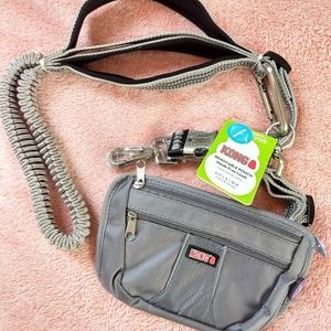 Other - KONG - HANDS FREE DOG LEASH REMOVABLE POUCH GREY